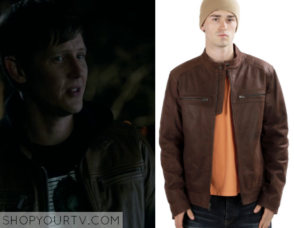 nolan brown leather jackeg