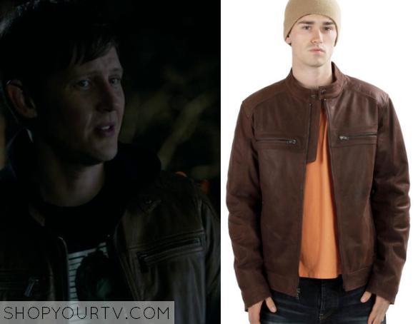 nolan brown leather jackeg
