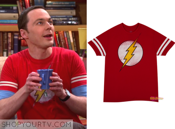 688265fb4 The Big Bang Theory: Season 8 Episode 23 Sheldon's Red The Flash T Shirt