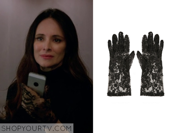 victoria black lae gloves