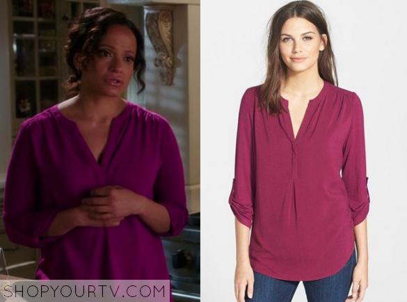 3x5 Devious Maids zoila purple shirt