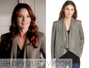 Pretty Little Liars: Season 6 Episode 2 Ashley's Draped Leather Jacket