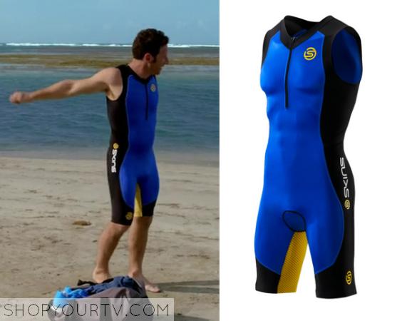 blue triathalon swimsuit
