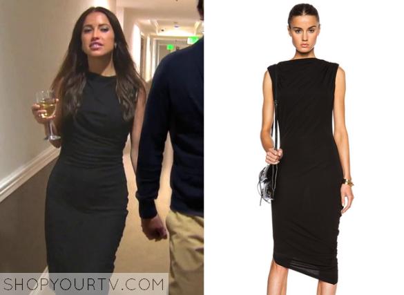 Kaitlyn Black Draped Dress