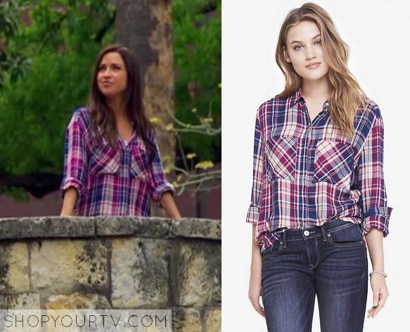 The Bachelorette Season 11 Episode 6 Kaitlyns Red Plaid Shirt