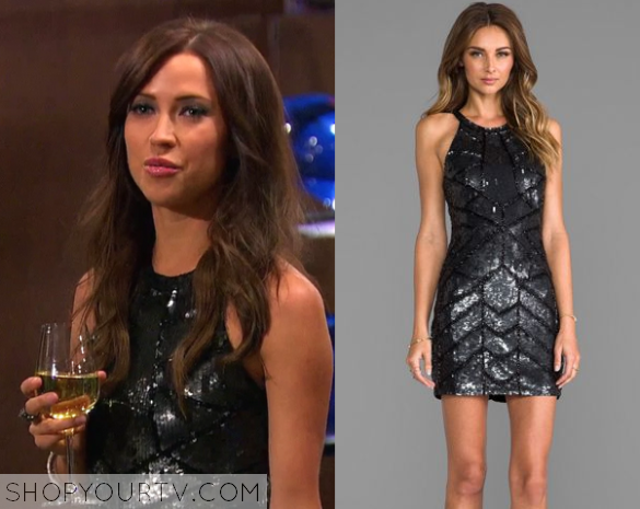 Kaitlyn Sequin Cut Out Dress