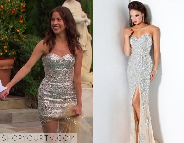 Kaitlyn Sequin Strapless Gown