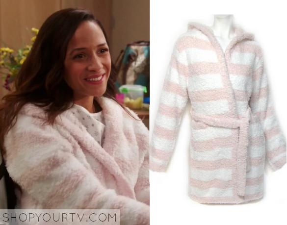 rosie pink striped robe