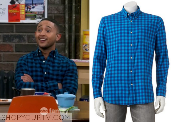 tucker blue check shirt