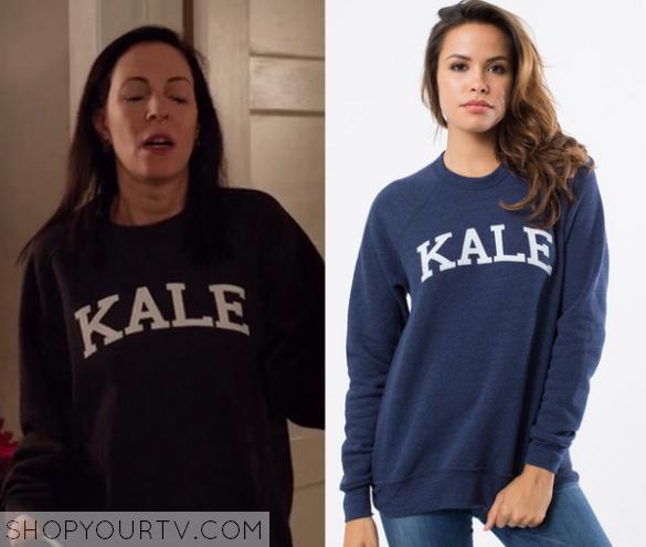 1x08 Odd Mom Out Jill's kale Sweater