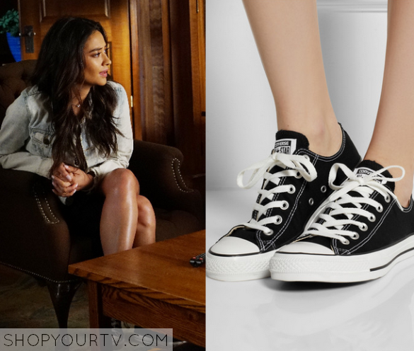 6x08 PLL Emily Fields Canvas Shoes