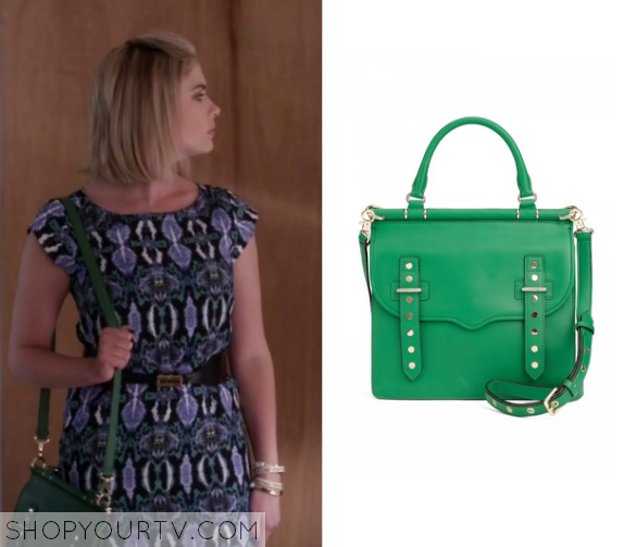 6x08 PLL Hanna Marin Green Bag