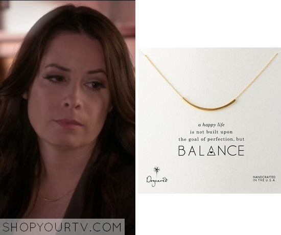 6x08 PLL Montgomery Gold Necklace