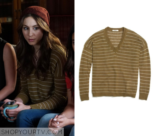6x08 PLL Spencer Hastings Mustard Sweater