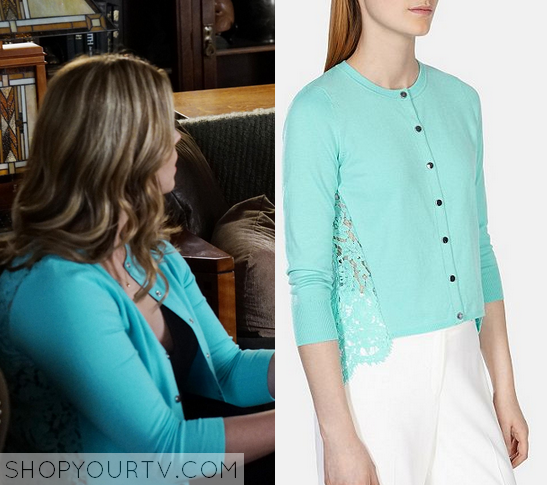 6x8 PLL Alison DiLaurentis Lace Back Cardigan