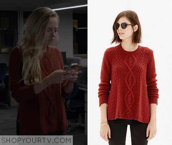 1x01 Mr Robot Angela's Cable Knit Sweater