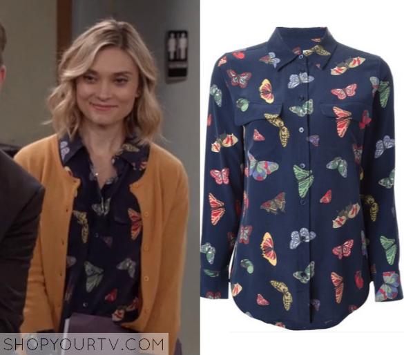 1x3 Mr Robinson Ashleys Butterfly button down print shirt