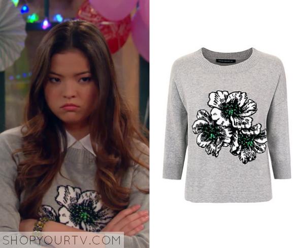 2x10 I Didn't Do It Jasmine's Flower Printed Sweatshirt