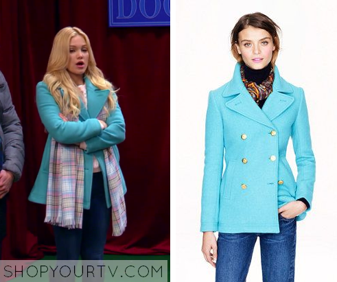 2x10 I Didn't Do It Lindy's Blue Button Peacoat