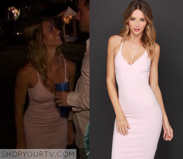 2x4 Bachelor in paradise Tenley Pink Dress