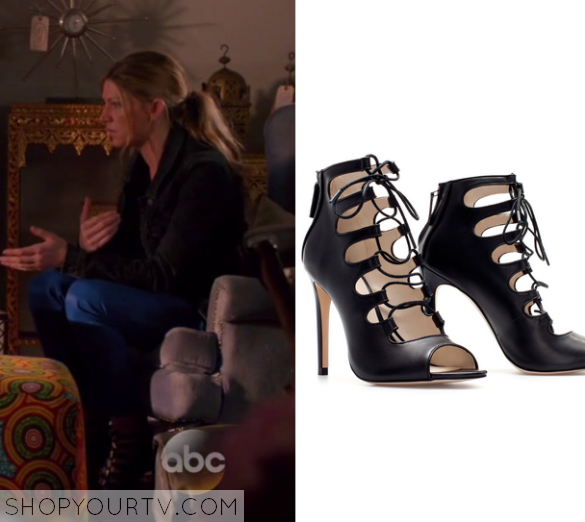3x08 Mistresses Josslyn Carver Strappy Caged Heels