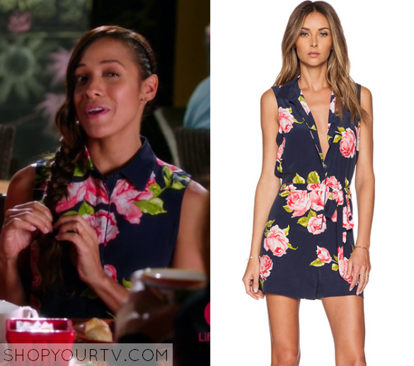 3x10 Devious Maids Rosie Falta Button Down Print Dress