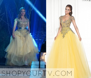 Pretty Little Liars: Season 6 Episode 9 Alison's Yellow Embellished Evening Gown