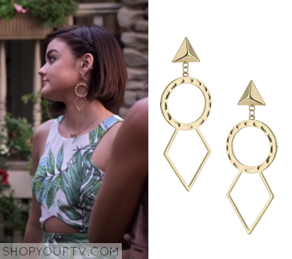 6x10 PLL Aria Montgomery Gold Earrings
