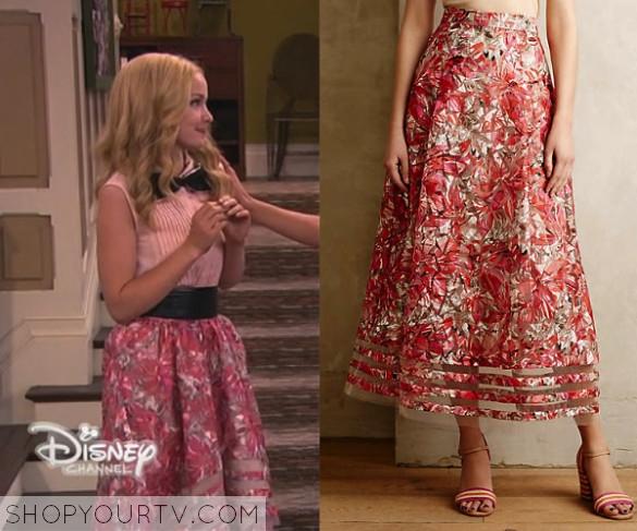 34cc27fce2 Liv   Maddie  Season 2 Episode 23 Liv s Pink Floral High-Low Skirt