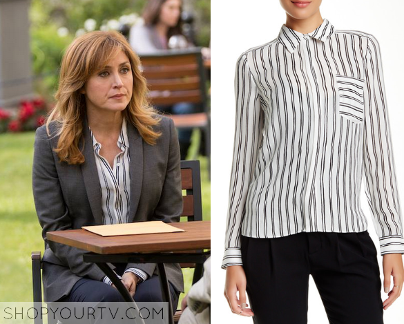 maura striped blouse