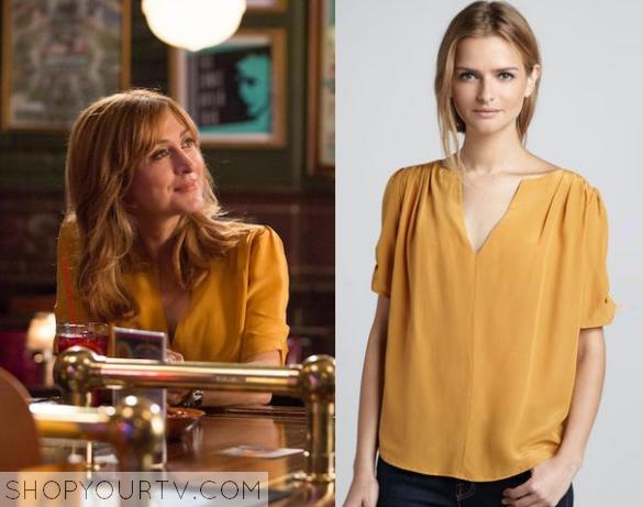 maura yellow blouse