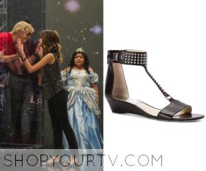 Austin & Ally: Season 4 Episode 12 Ally's Black Embellished Wedge Sandals