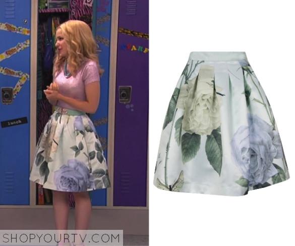 5cfc6fb391 Liv   Maddie  Season 2 Episode 23 Liv s Rose Print Knee Length Skirt