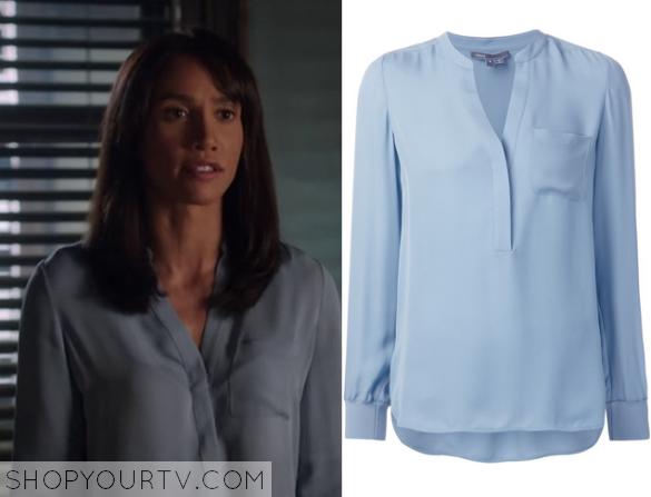 tess blue blouse
