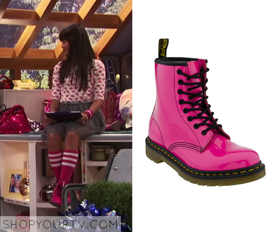 1x01 Bella and the Bulldogs Peppers Pink Patent Boots