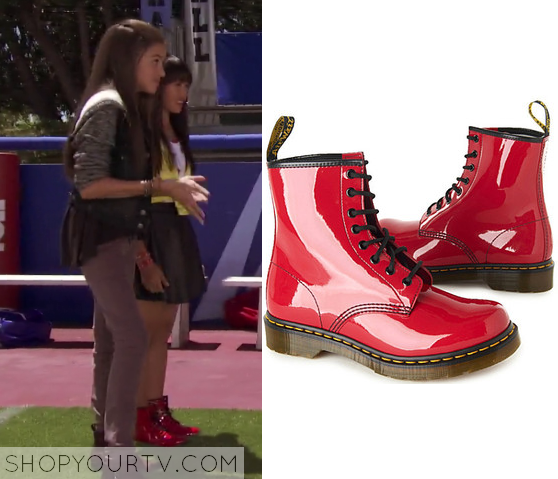 1x01 Bella and the Bulldogs Peppers Red Patent Boots
