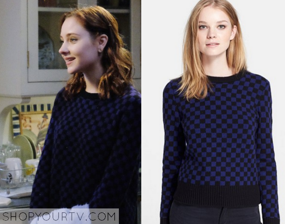 2x10 Chasing Life Brenna Carver Checker board Sweatshirt