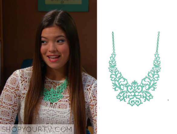 I Didn't Do It 2x17 Mint Green Necklace