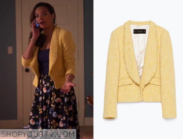 april yellwo tweed jacket