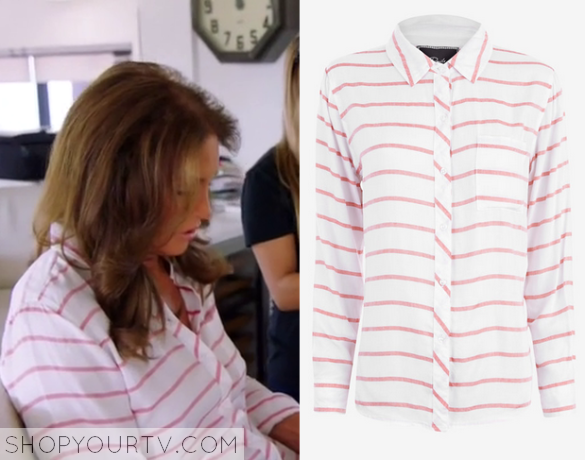caitlyn pink striped blouse