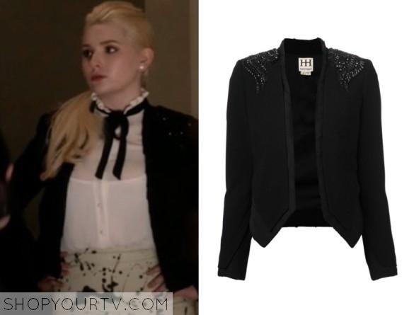 chanel #5's black jacket