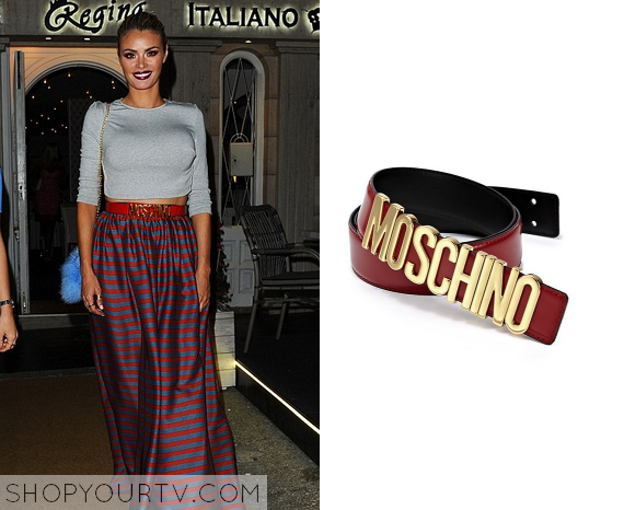 bec4c974183 TOWIE: Season 15 Episode 1 Chloe's Red Moschino Belt | Shop Your TV