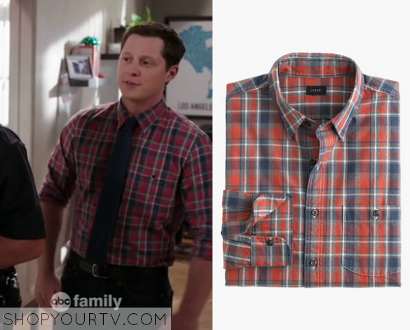 kevin red plaid shirt