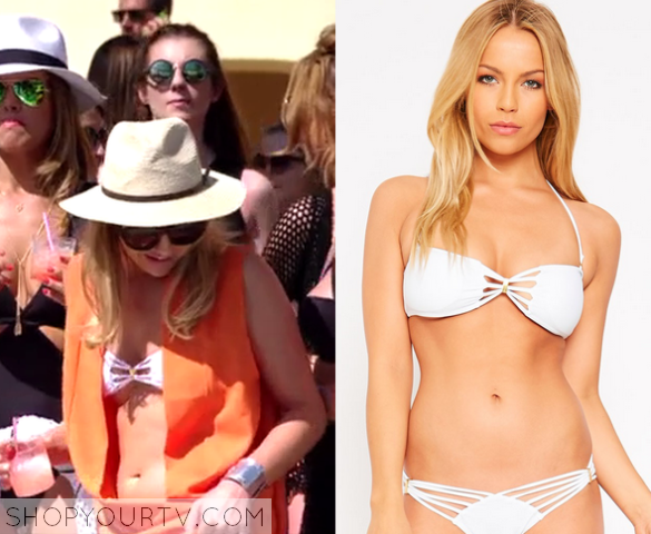 lydia white bikini top