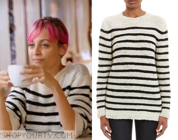 nicole striped sweater