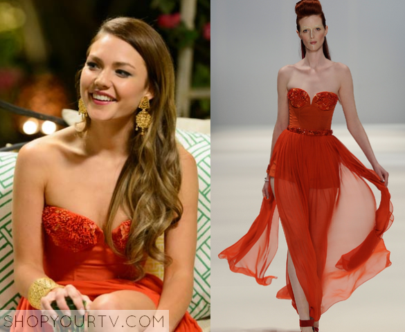 sam frost red dress