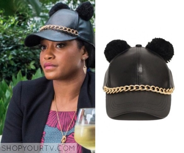 Pom Pom Ears Chained Hat