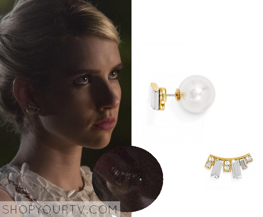 f7499b1b55d4f 1x3 Scream Queens Emma Roberts as Chanel Oberlin Baublebar Deco 360  Crawlers Earring