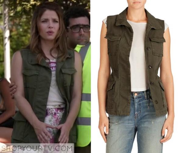 1x8 Kevin From Work Audreys Khaki Military Green Vest Jacket Sleeveless