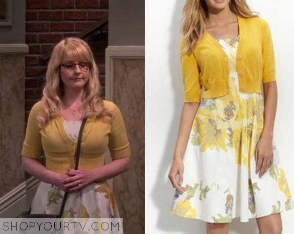d48684dfdee BIg Bang Theory  Season 9 Episode 5 Bernadette s Yellow Floral Print Dress